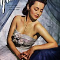 Olivia De Havilland On The Cover Of Glamour by Scotty Welbourne