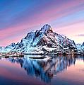 Olstind Lofoten Islands Norway by Richard Burdon