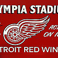 Olympia Stadium - Detroit Red Wings Sign by Bill Cannon