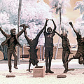 Olympic Wannabes Sculpture By Glenna Goodacre Near Infrared by Sally Rockefeller