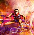 Olympics Heptathlon Hurdles 02 by Miki De Goodaboom