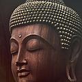 Om Mani Padme Hum  - Buddha by Sharon Mau