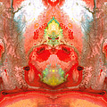 Om - Red Meditation - Abstract Art By Sharon Cummings by Sharon Cummings