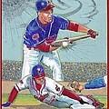 Omar Vizquel Shortstop Magic by Ray Tapajna