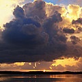 Ominous Cloud At Sunset by Jim Rabenstine