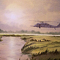 On A Mission - Hh60g Helicopter by Bill Holkham