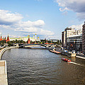 On Moscow River - Russia by Madeline Ellis