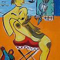 On The Beach by Annelies Van Biesbergen