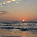 On The Beach At Sunrise - Wildwood New Jersey by Bill Cannon