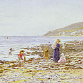 On The Beach by Helen Allingham