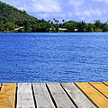 on the dock in Tahiti by Sophal Benefield