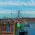 On The Dockside Bristol Rhode Island by Tom Prendergast