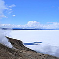 On The Edge Of Lake Yellowstone by Michele Myers