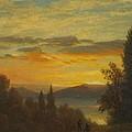 On The Hudson River Near Irvington by Albert Bierstadt