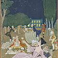 On The Lawn by Georges Barbier