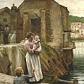 On The Quay Newlyn by Walter Langley