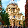 On The Steps Of Saint Pauls by Jenny Armitage