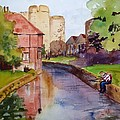 On The Stour River -canterbury by Nancy Brennand