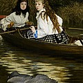 On The Thames     A Heron by Tissot