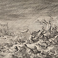 On The Vistula In Warsaw Poland, Two Ships With Clergy by Caspar Luyken And Pieter Van Der Aa I