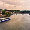 On The Vltava River - Prague by Madeline Ellis