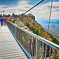 On Top Of Grandfather Mountain Mile High Bridge In Nc by Alex Grichenko