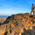 On Top Of The World In Edinburgh - Arthur's Seat by Mark E Tisdale