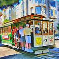 On Tram In San Francisco by Yury Malkov