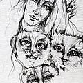 One Angel Three Cats by Angel Ciesniarska