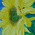 One Bright Sunflower Colorful Original Art Floral Flowers Artist K. Joann Russell Decor Art  by K Joann Russell