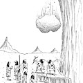 One Caveman To Another As They Watch A Boulder by Tom Cheney