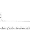 One Dog Speaks On A Podium To Several by Charles Barsotti