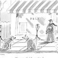 One Dog Tied Up To A Parking Meter To Another by Mick Stevens