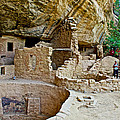 One End Of Spruce Tree House On Chapin Mesa In Mesa Verde National Park-colorado by Ruth Hager
