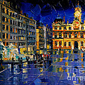 One Evening In Terreaux Square Lyon by Mona Edulesco