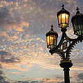One Light Out - Westminster Bridge Streetlights - River Thames In London Uk by Georgia Mizuleva