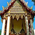 One Of Many Pagodas In Bangkok-thailand by Ruth Hager