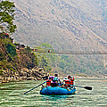 One Of Many Suspension Bridges Crossing The Seti River In Nepal by Ruth Hager