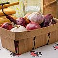 Onions And Garlic In A Crate by Alain De Maximy
