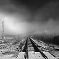 Onward - Railroad Tracks - Fog by Jason Politte
