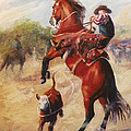 Oops          Buckaroo Western Oil Painting by Kim Corpany