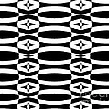 Op Art Geometric Black White Pattern Abstract No.290. by Drinka Mercep