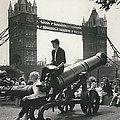 Open Air Art Lessons. The Tower Bridge As Background by Retro Images Archive