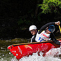 Open Canoe Whitewater Race - Panorama by Les Palenik