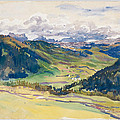 Open Valley. Dolomites by John Singer Sargent