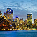 Opera House And Buildings Lit by Panoramic Images