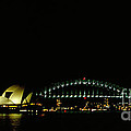 Opera House and harbour bridge in Sydney Australia