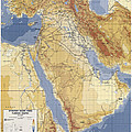 Operation Desert Storm Planning Map  1991 by Compass Rose Maps