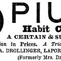 Opium Habit Cure, 1877 by Granger