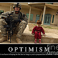 Optimism Inspirational Quote by Stocktrek Images